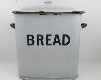 Antique Bread Box Enameled Porcelain & Antique bread box   Etsy Aboutintivar.Com