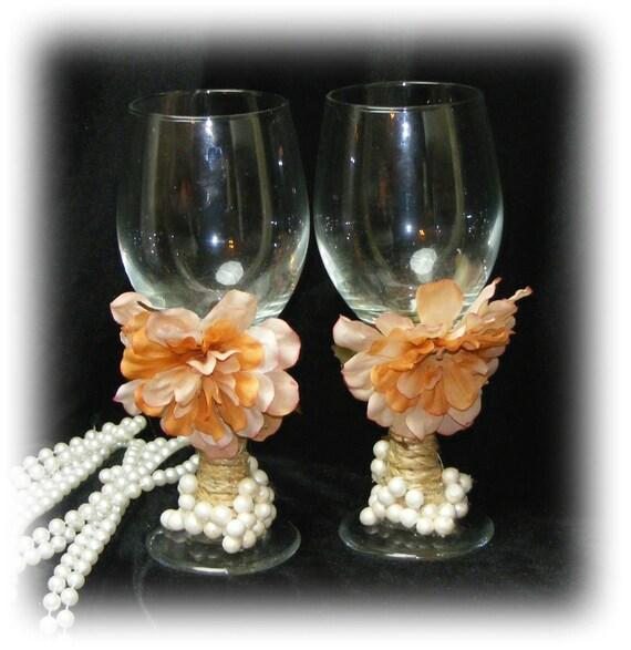Beautiful BRIDE & GROOM GOBLETS