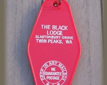 Twin Peaks Black Lodge Vintage style Keychain