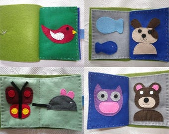 Jeux037 - Kids felt animal book