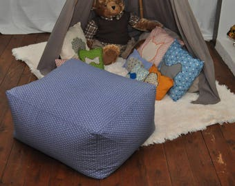 Beanbag cover / bean bag monophonic or two-tone to order