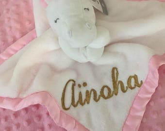 Carter's Unicorn Plush Security Blanket Lovey - Personalized