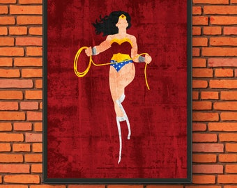 Minimalism Art - Wonder Woman Print