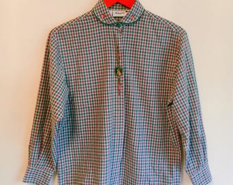 80s/90s checked blouse