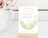 Watercolor Mother's Day Card, mother's day card, mothers day cards, mothers day, mothers day gifts, gifts for her, watercolor flower, cards