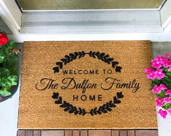 LARGE Custom Doormat, Closing Gift, Housewarming Gift, Wedding Gift, Custom Doormat, Anniversary Gift, Personalized Doormat, Unique Gift