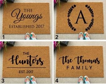 LARGE Custom Doormat - Housewarming Gift - Closing Gift - Custom Doormat - Unique Home Gift - Personalized Welcome Mat