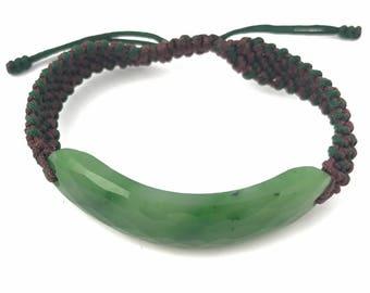 Canadian Nephrite Jade Bracelet, Faceted 1833-3