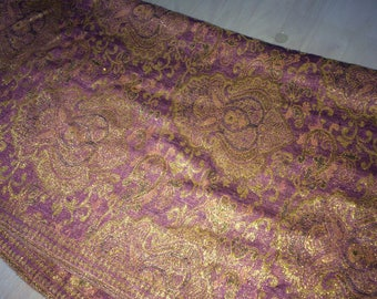 gold and pink/purple shimmery pashmina
