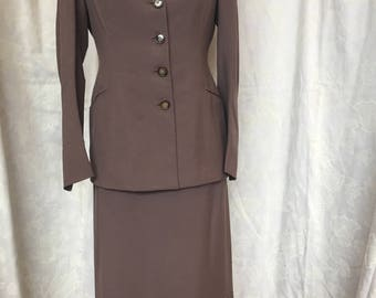 1940s Brown Ladies Suit