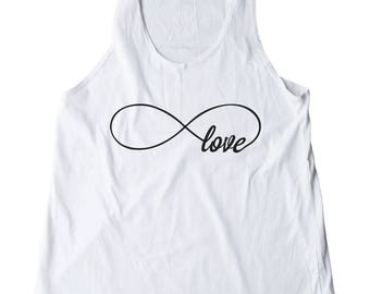 Infinity Love Shirt Funny Cool Trendy Fashion Tank Women Shirt Wedding Gifts Fitness Top Racerback Shirt Women Tank Top Shirt Teen Shirt