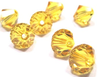 Swarovski 4mm Bicone - Sunflower - Pack 20