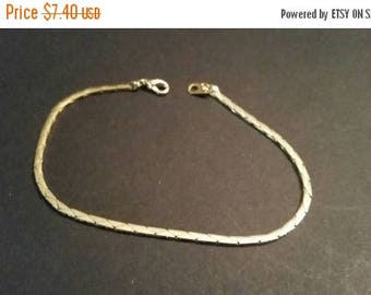 SALE Vintage Gold Bracelet Chain Costume Jewelry