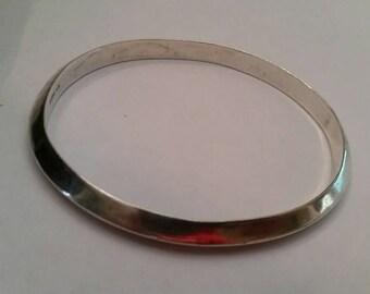Vintage Sterling Silver Bracelet Bangle Thai 925