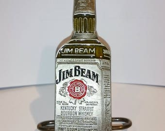 Rare Vintage Jim Beam Metal Belt Buckle 9cm Tall, Jim Beam Bourbon Whiskey Bottle Shaped Belt Buckle 1998 - EXCELLENT CONDITION!