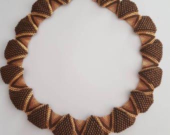 Peyote stitch 3D necklace