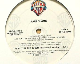 "Paul Simon - The Boy in the Bubble (1986) Vinyl 12"" Single  PROMO"