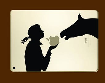 A girl and her horse for iPad 9.7 inch Portrait or landscape versions