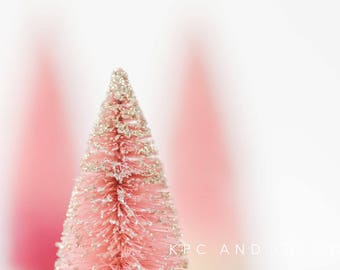 Rose Gold Christmas Tree Styled Stock Photography | Digital image | Styled Photo For Instagram