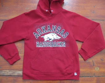University Arkansas Razorbacks Hoodie Sweatshirt Adult Mens Small