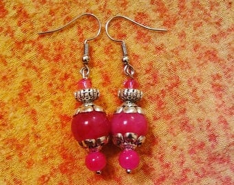 Pink Light house - Handmade earrings by Ansley Jukeboxx Joye