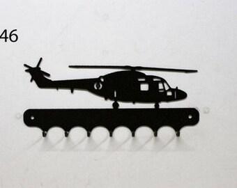 Hangs 26 cm pattern metal keys: helicopter air Lynx