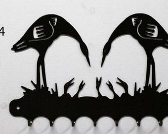 Hangs 26 cm pattern metal keys: birds in nest
