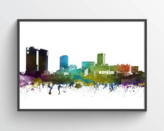 Fort Worth Poster, Fort Worth Skyline, Fort Worth Cityscape, Fort Worth Print, Fort Worth Art, Fort Worth Decor, Gift Idea, USTXFW01P