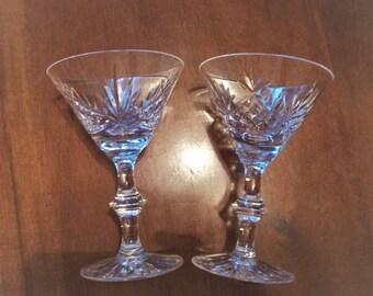 Set of 2 Sutherland by Edinburgh Crystal, Champagne or Tall Sherbet Glasses, Edinburgh Crystal Champagne