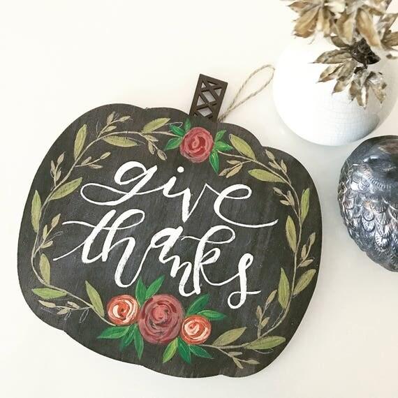 Thanksgiving Home Decor * Catholic Decor * Hostess Gift * Thanksgiving Decor * Handlettering