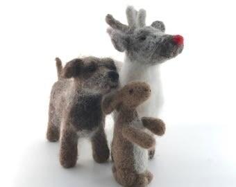 Reindeer needle felt kit