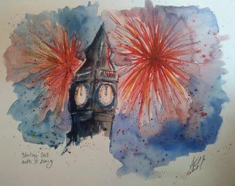 Westminster & fireworks