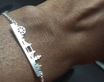 London Skyline Bracelet, London Bracelet, Skyline Bracelet, Cityscape Bracelet, Minimal Bracelet, Dainty Bracelet