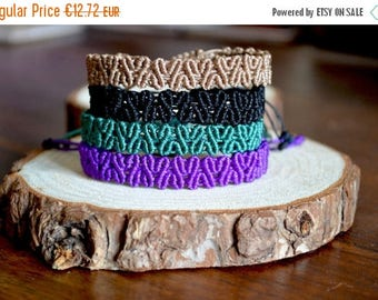 ON SALE Macrame Heart Bracelet - Love bracelet - Micro macrame bracelet - Stacking bracelet - Friendship adjustable bracelet - gifts under 1
