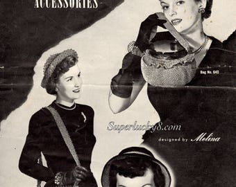 Haiawatha Glitter Accessories crochet and knitting patterns in PDF instant download version , ebook vintage