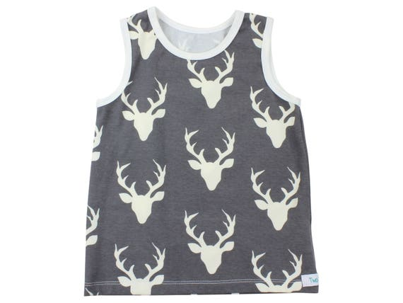 Gray Deer Tank Top