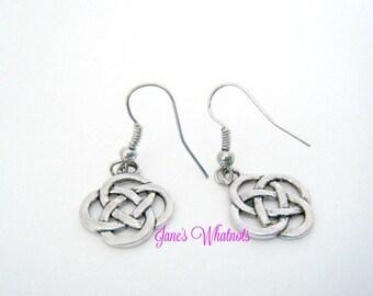 Celtic Knot Earrings - Silver - E530