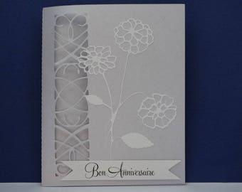 Cornflower blue flowers birthday card