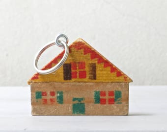 Wooden house key ring