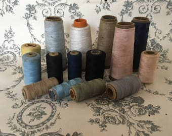 Vintage Spools Of Thread, Craft Supplies, Vintage Sewing, Cotton Thread