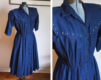 Medium - Vintage Denim Dress