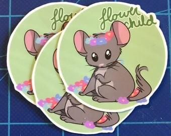 Critter Sticker: Flower Child