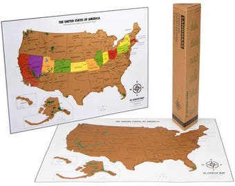 Scratch off USA Map with National Parks - Travel Tracker Map