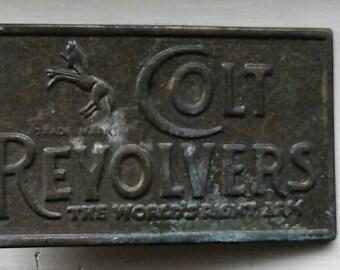 Vintage 1970s Colt Revolver Belt Buckle
