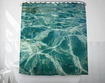Water Art Bath Decor, Photo Bath Curtain, Water Texture Photo, Shower Curtain Sets, Long Shower Curtain, Bath Decor, Fabric Shower Curtain