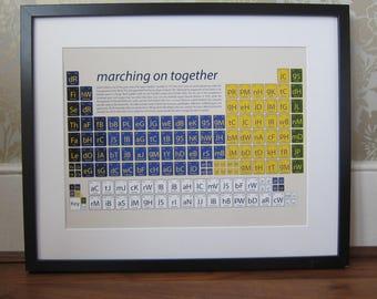 Leeds United, Leeds United Gift, Leeds present, Leeds gift, Periodic table, Leeds United art, Leeds United fan, Gift for dad