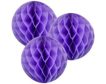 Just Artifacts Tissue Paper Honeycomb Ball (Set of 3, Lilac)