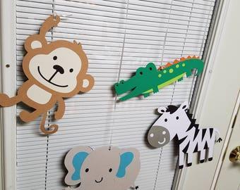 Safari ceiling hangers, safari birthday, safari party, safari decoratins, jungle ceiling hangers, jungle party, jungle decorations
