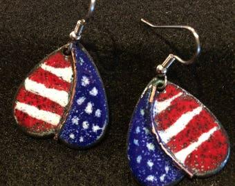 Patriotic earings
