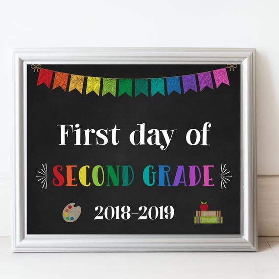 It's just a picture of Current First Day of Second Grade Free Printable